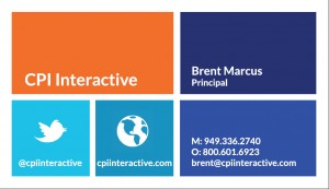 Brent Marcus Business Card