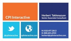 Herbert Takhmazyan Business Card