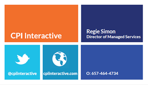 Regie Simon Business Card
